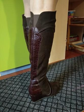 Продам свои сапоги,б/у. Причина продажи-не гадала с размером. Цвет коричневый,ве. Каменское, Днепропетровская область. фото 8