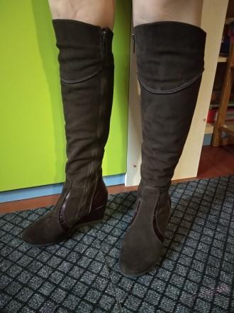 Продам свои сапоги,б/у. Причина продажи-не гадала с размером. Цвет коричневый,ве. Каменское, Днепропетровская область. фото 7