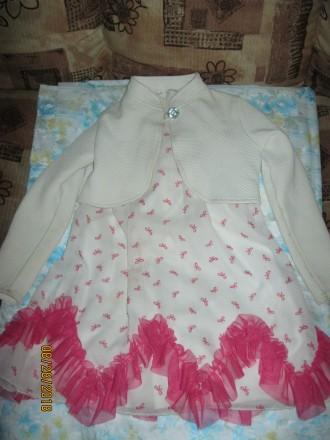 Продам нарядное платье с балеро для девочки 5 лет рост 110 см. Чернигов. фото 1