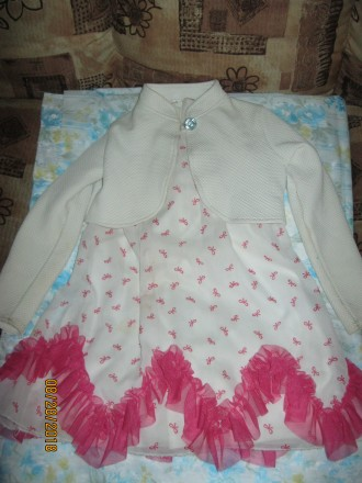 Продам нарядное платье с балеро для девочки 5 лет рост 110 см. Чернігів. фото 1