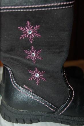 Стильные теплые демисезонные ботиночки состояние новых STUPS р. 24. Тернополь. фото 1