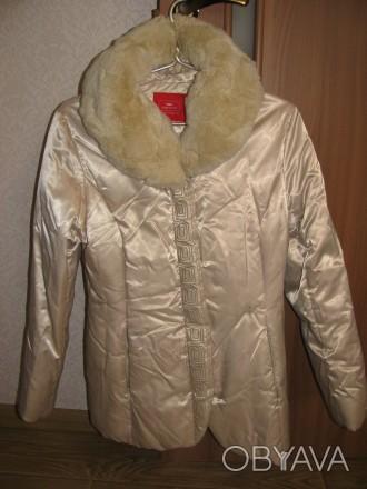 Зимняя куртка-пуховик с натуральным мехом