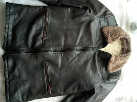Мужская куртка кожаная на меху. Емильчино. фото 1