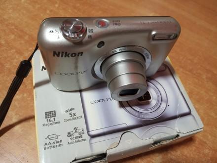 Цифровой фотоаппарат Nikon Coolpix L31 качественные снимки, рабочий, дешево. Киев. фото 1