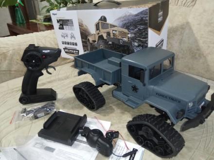 Детский военный грузовик на радиоуправлении FY001B. Одесса. фото 1