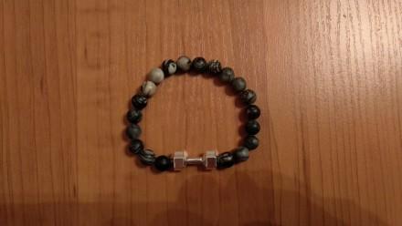 Пропоную чоловічі браслети ручної роботи. Діаметр каменів 8 мм. Якість хороша. С. Львов, Львовская область. фото 3