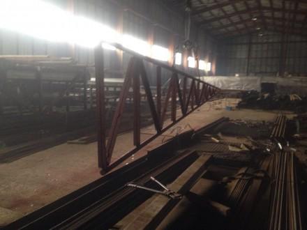 родам Новые Фермы металлические, односкатные  длиной 12м высота конька 2м. Харьков. фото 1