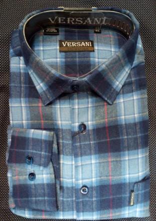 Тёплая фланелевая мужская рубашка классического кроя.. Харьков. фото 1