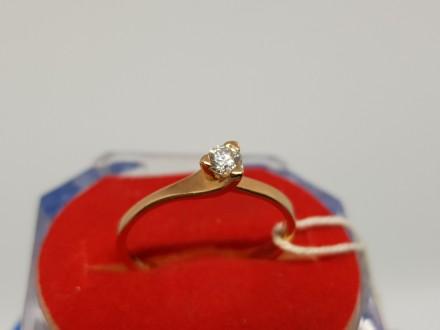 Золота каблучка з дiамантом.. Днепр. фото 1
