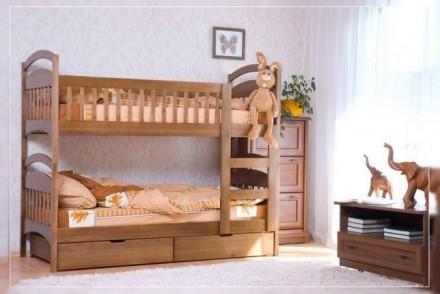 Двухъярусная кровать Карина с ящиками и матрасами.. Киев. фото 1