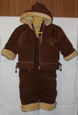 Зимовий костюм - куртка+напівкомбінезон на зріст 86-92см, на 1-2 роки. Чернигов. фото 1