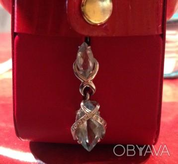 7b70526b20c0 ᐈ Серьги белое золото, топаз, бриллианты ᐈ Чернигов 9500 ГРН ...