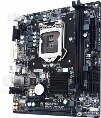 Материнская плата Gigabyte GA-H110M-S2V rev 1. 0  (s1151, Intel H110, PCI-Ex16). Львов, Львовская область. фото 4