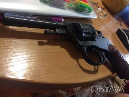 Продам револьвер Наган под патрон флобера, самый мощный из оружейной стали револ. Киев, Киевская область. фото 1