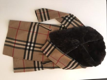 """burberry""""- відома фірма, якої є це пальто. Воротник-25см, довжина-82см, плече-5 . Киев, Киевская область. фото 4"""