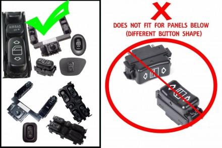 Клавиши стеклоподъемника MERCEDES C280 E300D E320 E430 W210 W202 Код товара: U2. Харьков, Харьковская область. фото 3