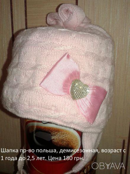 Продам шапку пр-во Польша демисезонная на возраст от 1 года до 2 лет. Состояние . Северодонецк, Луганская область. фото 1