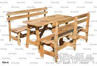 Набор мебели из дерева для сада, дачи, в беседку, на террасу / Код: Нм-6. Чернигов. фото 1