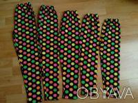 Лосины на девочку 5,7,8,9лет  Лосины в разноцветный горох. Для девочки на : 5,. Одесса, Одесская область. фото 2