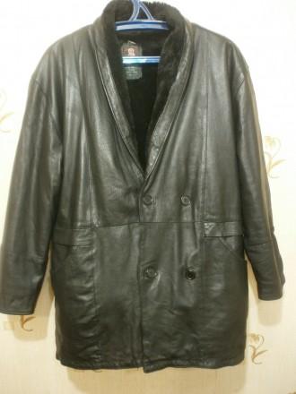 Куртка мужская на меху, натур кожа. Черкассы. фото 1