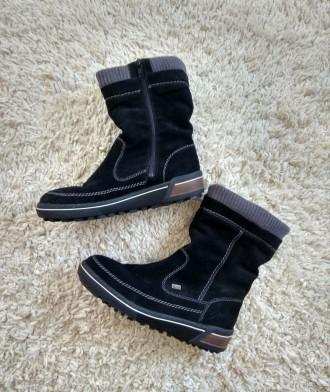 Замшевые полусапоги,ботинки Rieker. Косов. фото 1