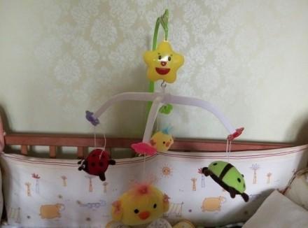 Мобиль на кроватку. Покупателю подарок- игрушки для малыша и фиксатор!. Киев. фото 1