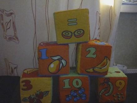 Мягкие кубики и развивающие. Буча. фото 1