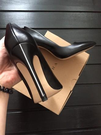 Новые кожаные туфли Zara, 36. Полтава. фото 1
