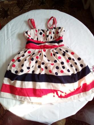 Летнее платье 3-4 года. Ржищев. фото 1