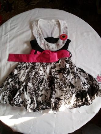 Красивое летнее платье 98-104 рост. Ржищев. фото 1