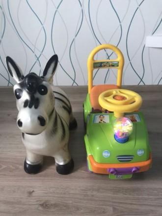 Детская машинка и прыгун. Днепр. фото 1