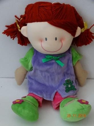 Очень красивая мягкая кукла с погремушкой внутри. 40 см. Черноморск (Ильичевск). фото 1