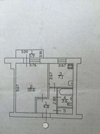 Продам 1 комнатную квартиру в кирпичном доме, район Градецкий. Чернигов. фото 1