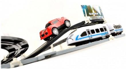 Игра 2в1. Авто трек и Детская железная дорога Racing 630см марки COWA. Днепр. фото 1