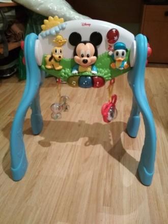 Развивающая игрушка, игровой центр Дисней, Микки Маус 3 в одном. Киев. фото 1
