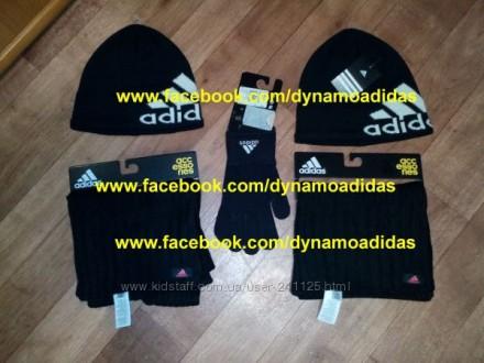 Шапка шарф перчатки Адидас Adidas W ESS комплект оригинал. Киев. фото 1