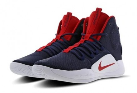 "Баскетбольные кроссовки Nike Hyperdunk X ""USA"" Navy Blue/Red-White. Киев. фото 1"