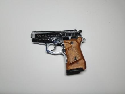 Продам стартовый пистолет Stalker 914  (Shiny Chrome Plating,  Engraved brown g. Киев, Киевская область. фото 3