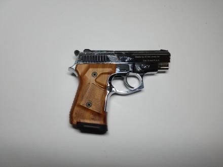 Продам стартовый пистолет Stalker 914  (Shiny Chrome Plating,  Engraved brown g. Киев, Киевская область. фото 4