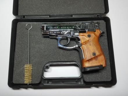 Продам стартовый пистолет Stalker 914  (Shiny Chrome Plating,  Engraved brown g. Киев, Киевская область. фото 2
