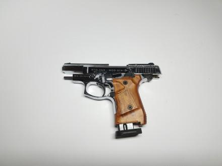 Продам стартовый пистолет Stalker 914  (Shiny Chrome Plating,  Engraved brown g. Киев, Киевская область. фото 5
