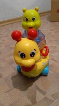Развивающая игрушка улитка-пирамидка музыкальная. Сумы. фото 1