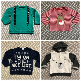 Тёплый новогодний свитер на мальчика 9-12-18 месяцев. Днепр. фото 1