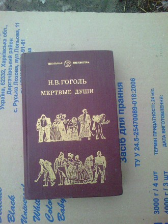 Продам книгу - Мёртвые души. авт. Н .В. Гоголь.. Новоайдар. фото 1