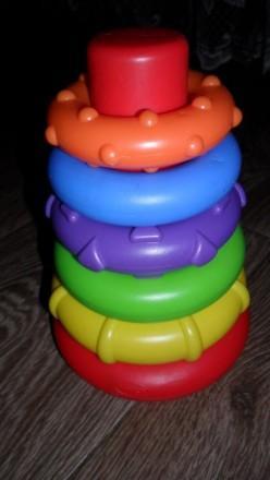 Моя первая развивающая игрушка Пирамидка Playgro. Купянск. фото 1