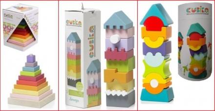 Cubika деревянные игрушки пирамидка балансир кубики Кубика. Днепр. фото 1
