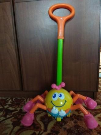 Игрушка-каталка паучок. Краматорск. фото 1