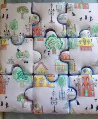 Мягкий развивающий коврик-пазл (1м×1м). Киев. фото 1