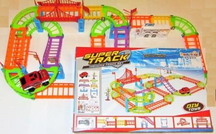 2 в 1 Детский гоночный конструктор авто-трек Super Track. Харьков. фото 1