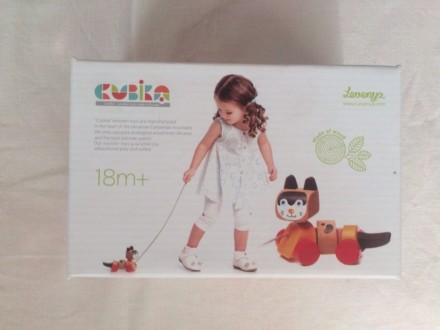 Левеня каталка - дитяча дерев'яна іграшка. Киев. фото 1